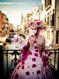 Masquerade in Venice royalty free stock image