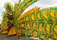 Masquerader de carnaval de costume Images libres de droits