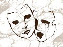 Masques illustration stock