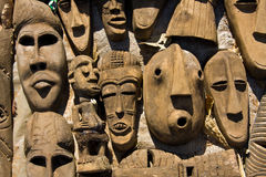 Masques africains Images libres de droits