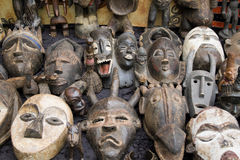 masques africains vieux Image stock