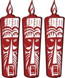 masques aztèques illustration de vecteur