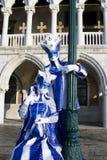 Masques bleus de Venitian photographie stock