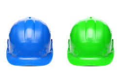 Masques bleus et verts Photo stock