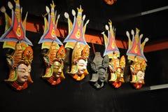 Masques boueux médicaux tibétains Image stock