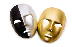 Masques brillants d'isolement Image libre de droits