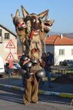Masques bulgares traditionnels de mummers' d'†de Kukeri « Photographie stock libre de droits