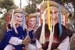 masques d'âViejitoâ ou de vieux hommes Photo stock