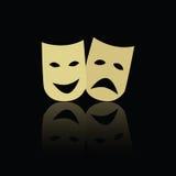 Masques d'émotion de théâtre illustration libre de droits