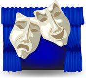 Masques d'allégorie illustration libre de droits
