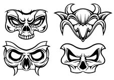 Masques d'horreur illustration stock