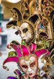 Masques de carnaval à la place du ` s de St Mark images stock