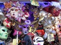 Masques de carnaval à vendre Images libres de droits