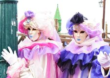 Masques de carnaval de l'Italie Venise Photo stock