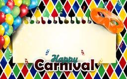 Masques de carnaval et verticale de décor de harlequin Photos stock