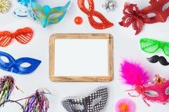 Masques de carnaval ou de mardi gras photographie stock