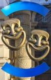 Masques de comédie Photo libre de droits