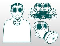 Masques de gaz Image stock
