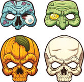 Masques de Halloween illustration de vecteur