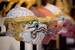 Masques de Khon Images libres de droits