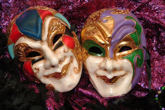 Masques de mardi gras image libre de droits