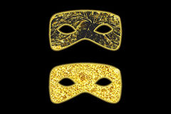 Masques de mascarade d'or illustration stock
