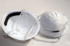 Masques de poussière Images stock