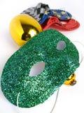 Masques de réception et un maraca Images stock