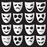 Masques de théâtre Images libres de droits