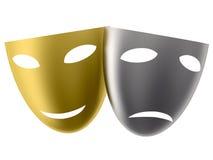 Masques de théâtre Image stock