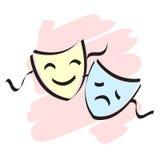 Masques de théâtre Photo libre de droits