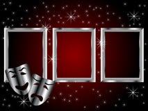 Masques de théâtre de comédie et de tragédie illustration libre de droits
