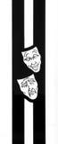 Masques de tragédie de comédie Photos libres de droits