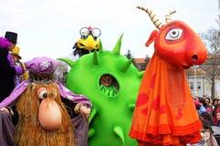 Masques drôles de carnaval Images libres de droits
