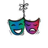 Masques, drame et comédie de théâtre Photo libre de droits