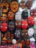 Masques en bois coréens Photos libres de droits