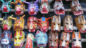 Masques en bois. Guatemala Photo stock