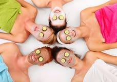 Masques faciaux Photographie stock