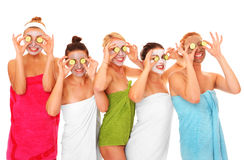 Masques faciaux Photo stock