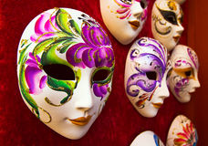 Masques faits main de carnaval Photo libre de droits