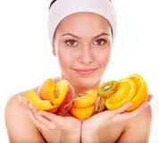 Masques faits maison normaux de massage facial de fruit. Photographie stock libre de droits