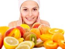 Masques faits maison normaux de massage facial de fruit. Photos stock