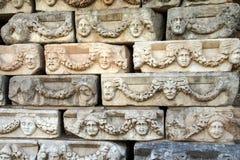 Masques grecs de théâtre Photo stock