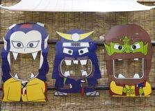 Masques japonais de quelques caractères particuliers Photographie stock