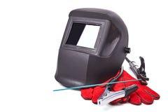 Masques protecteurs et welder& x27 ; gants de s Images stock