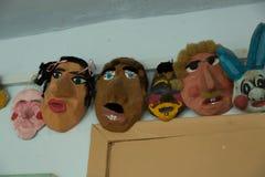 Masques roumains photo libre de droits