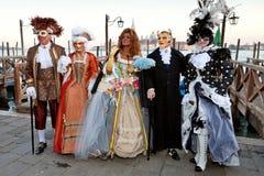 Masques sur le carnaval vénitien, Venise, Italie Photographie stock libre de droits