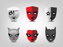 Masques théâtraux Photo libre de droits