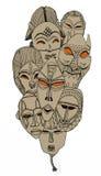 Masques tribals Image libre de droits