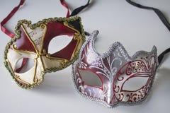 Masques vénitiens colorés photos stock